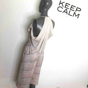 See By Chloe Draped Midi Dress Pink Blush Chiffon